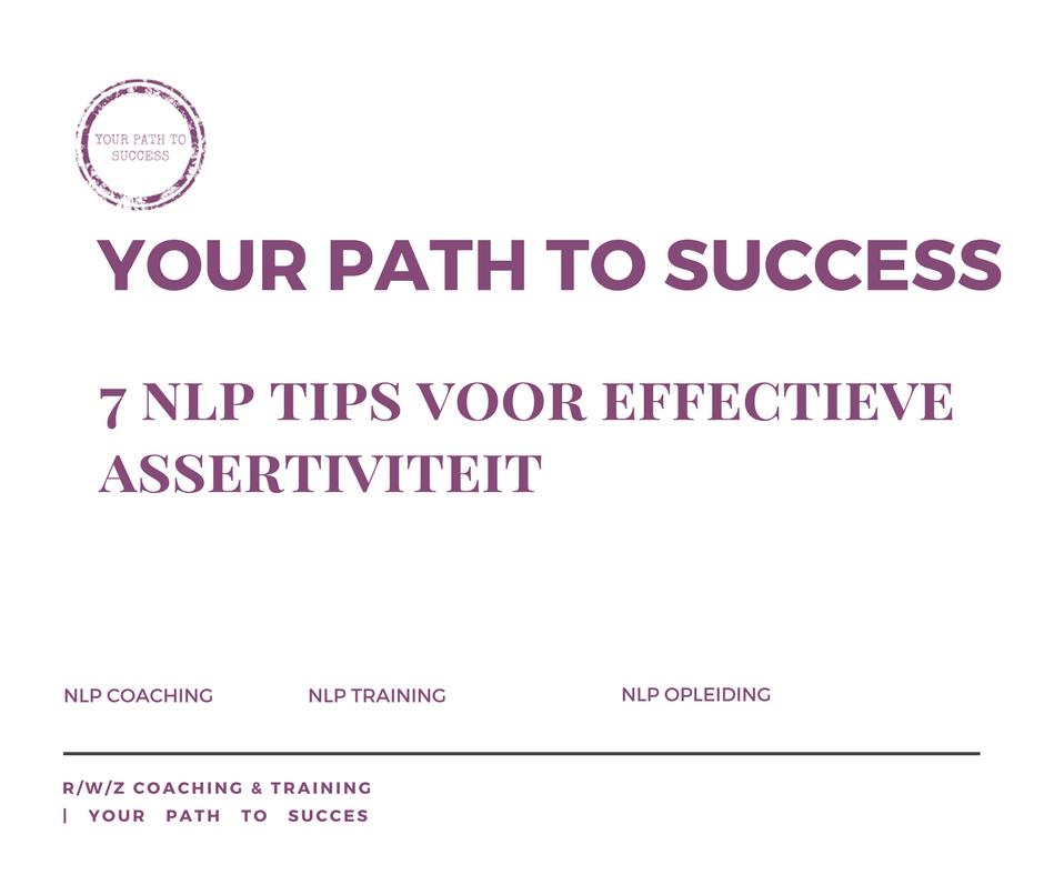 NLP TIPS + assertiviteit